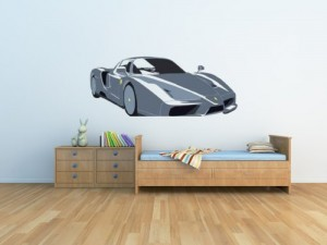 ferrai car wall decal