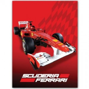 ferrai f1 blanket red