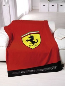 ferrari blanket red