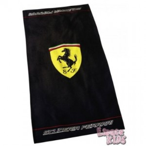 ferrari towel black