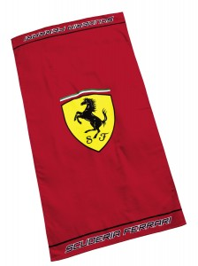 ferrari towel red
