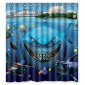 finding nemo shower curtain cool stuff to buy and collect. Black Bedroom Furniture Sets. Home Design Ideas