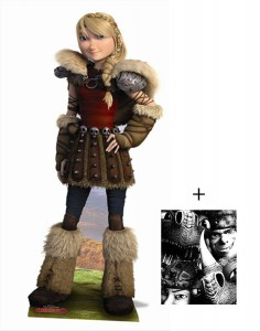 how to train your dragon cardboard cutout astrid
