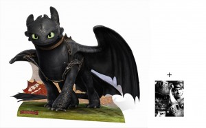 how to train your dragon cardboard cutout toothless
