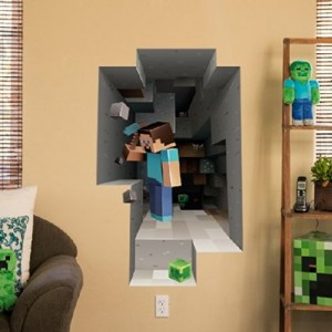 minecraft wall decal steve