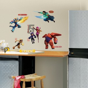 Big hero 6 wall decals cool stuff to buy and collect - Cool things to buy for your room ...