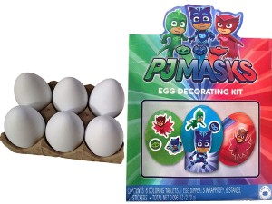 pj masks egg decorating